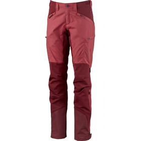 Lundhags Makke Pantalon Femme, garnet/dark red